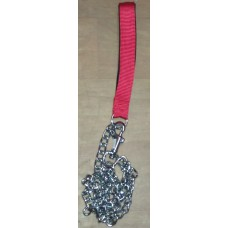 Chain Dog Leash With Nylon Handle (Large)