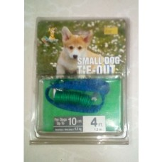 Reflective Coiled Small Dog Tie-Out Cable (4Ft.)