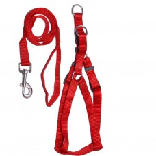 Dog Leash And Harness Plain (size 0.75inch)