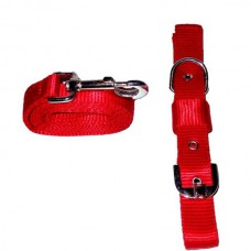 Adjustable Collar Leash Set Nylon (size - 1 inch)