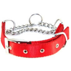 Dog Choke Collar Chrome Plated (size - 1 inch)