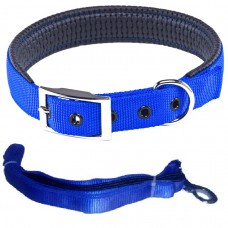 Collar Set Leash+Collar Pedded  (size 1.25 inch)