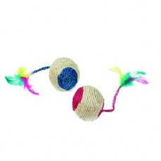 Karlie Sisal Playball Cat Toy (Size 5 Cm)