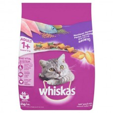 Whiskas Mackerel Flavor Adult Cat Food (1.2 kg)