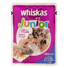 Whiskas Junior Mackerel Jelly Cat Food