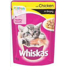 WHISKAS KITTEN GRAVY CHICKEN ( 85 Gm )