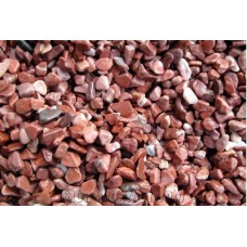 Red color gravel