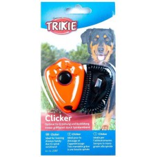 Trixie clicker, with spiral wrist loop