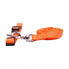 Smarty Pets Orange Collar & Leash