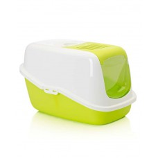 Savic Nestor Cat Toilet ( Lemon Green&White)