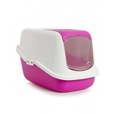 Savic Nestor Cat Toilet (Fuchsia &White)