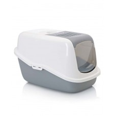 Savic Nestor Cat Toilet (Cold Grey &White)