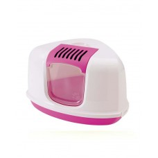 Savic Nestor Cat Toilet (Fuchsia And White)