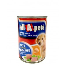 All4Pets Dog Food Pate With Chicken And Rice ( 400 gms )