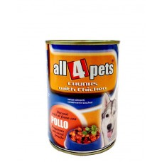 All4Pets Chunks With Can Food (400 gms )