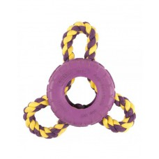 3 Way Rope Rubber Tire Dog Toy