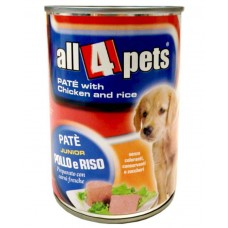 All4pets Pate With Chicken And Rice Dog Food (130 Gm)