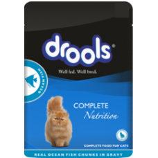 Drools Wet Pouch Ocean Fish Cat Food (100 Gm)